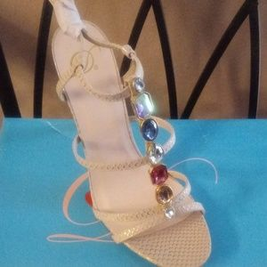 Strappy gem stone shoes